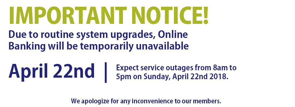 NOTICE! Service outage on April 22 at 8am to 5pm