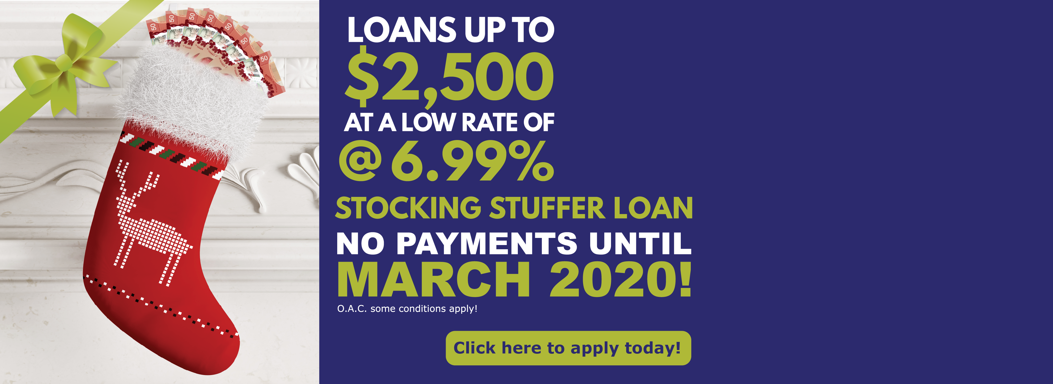 PACE Stocking Stuffer Loan
