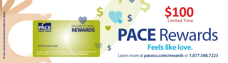 PACE Rewards $100 limited time