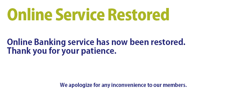 Service to online banking has been restored