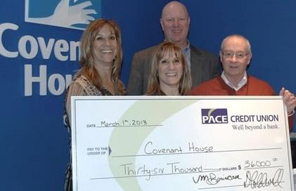 2013 covenant house cheque presentation