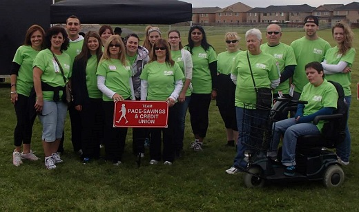 PACE staff at Terry Fox run 2013